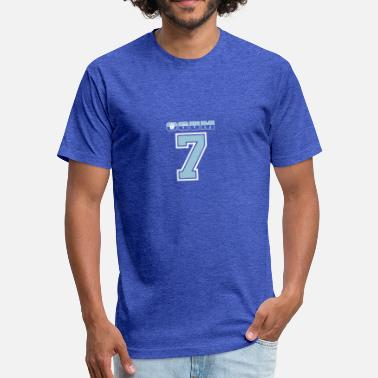 Sportshirt Ogum No 7 on blue 1 - Fitted Cotton/Poly T-Shirt by Next Level