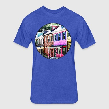 Jim Thorpe Pa - Colorful - Fitted Cotton/Poly T-Shirt by Next Level