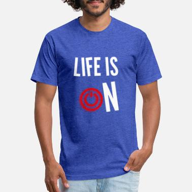 LIFE IS ON short sleeve shirt men - Unisex Poly Cotton T-Shirt