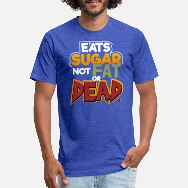 Eats Sugar Not Fat Or Dead | Sweet Tooth - Unisex Poly Cotton T-Shirt