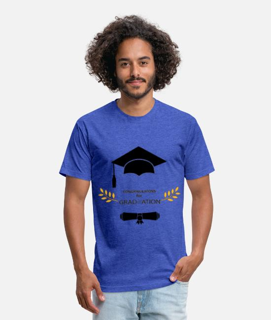Highheels T-Shirts - congratulations for Graduate School and university - Unisex Poly Cotton T-Shirt heather royal
