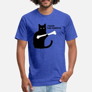 1b147e572 I Found This Humerus i Found This Humerus Black Cat - Unisex Poly Cotton T-