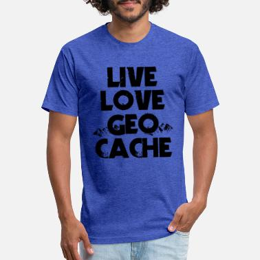 Night Cache Live Love Geo Cache - Unisex Poly Cotton T-Shirt