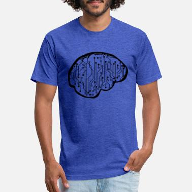 Wiring Diagram intelligent brain data circuit wire microchip elec - Unisex Poly Cotton T-Shirt