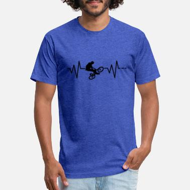 Heartbeat Heartbeat - BMX bike, mtb, bicycle, trick - Unisex Poly Cotton T-Shirt