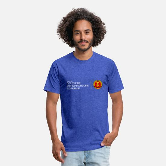 Alexanderplatz T-Shirts - Made in GDR - DDR - Deutsche Demokr. Rep. - Berlin - Unisex Poly Cotton T-Shirt heather royal