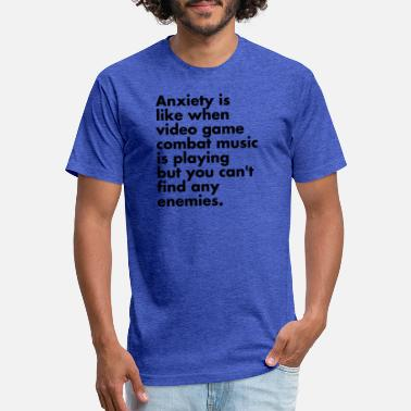 Music Video Anxiety is like Video Game Music - Unisex Poly Cotton T-Shirt