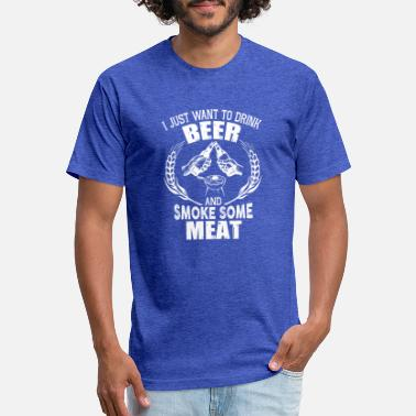 Meat Drink Beer And Smoke Some Meat T Shirt - Unisex Poly Cotton T-Shirt