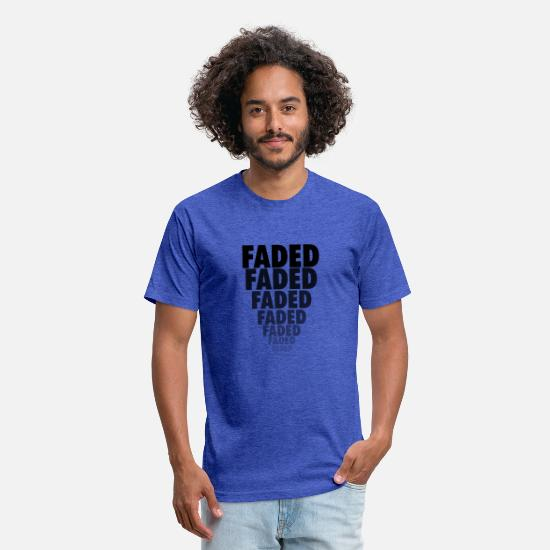 Faded T-Shirts - Faded - Unisex Poly Cotton T-Shirt heather royal