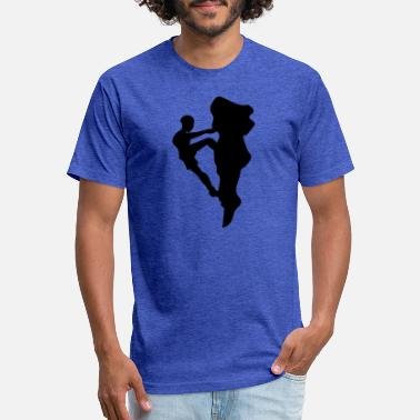 Mountain Stage Rock Climbing Climber Mountains - Unisex Poly Cotton T-Shirt