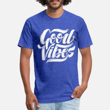 Lettering Good Vibes, Cool Hand Lettered Typographic T-Shirt - Unisex Poly Cotton T-Shirt