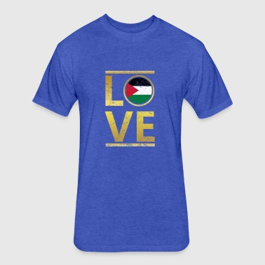 roots love home geschenk queen Jordanien - Fitted Cotton/Poly T-Shirt by Next Level