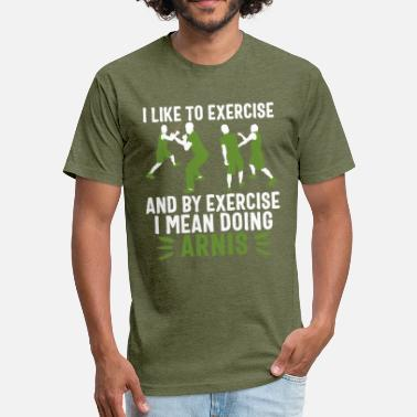 Eskrima Kalis Eskrima Arnis t-shirt Philippines Exercise - Fitted Cotton/Poly T-Shirt by Next Level