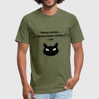 Paw Meow Meow, meow ... meow - Fitted Cotton/Poly T-Shirt by Next Level