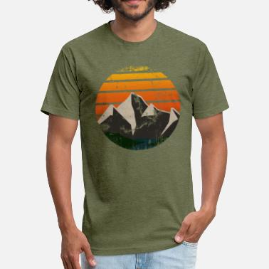 Mountain Bliss - Fitted Cotton/Poly T-Shirt by Next Level