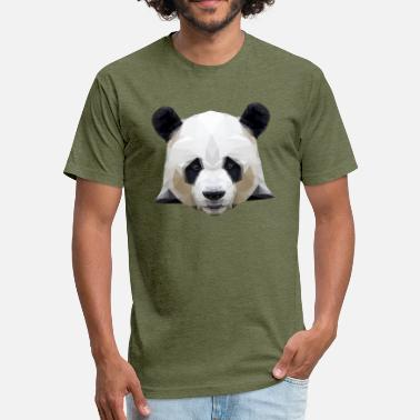 Chinese Art Cute Graphic Panda - Panda Polygon - Fitted Cotton/Poly T-Shirt by Next Level