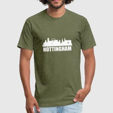 Nottingham Nottingham Skyline - Fitted Cotton/Poly T-Shirt by Next Level