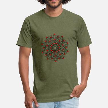 Hypercube 5d hypercube - Fitted Cotton/Poly T-Shirt by Next Level