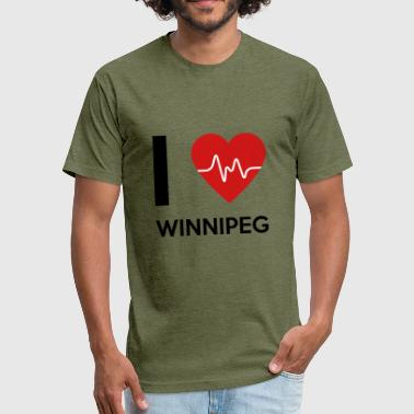 I Love Winnipeg - Fitted Cotton/Poly T-Shirt by Next Level
