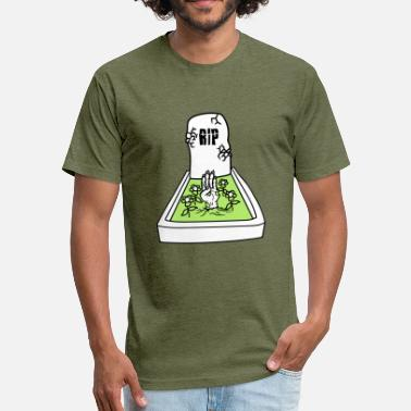 Frogs Halloween zombie awakening undead hand horror halloween grav - Fitted Cotton/Poly T-Shirt by Next Level
