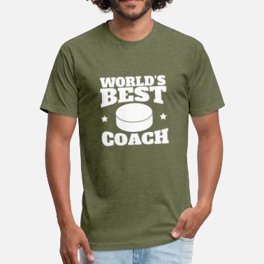 Worlds Best Hockey Coach World's Best Hockey Coach Graphic - Fitted Cotton/Poly T-Shirt by Next Level