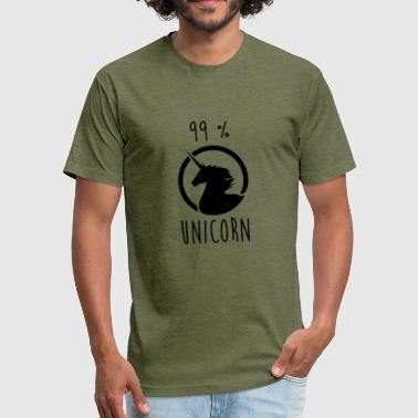 99% Unicorn 99% Unicorn - Fitted Cotton/Poly T-Shirt by Next Level