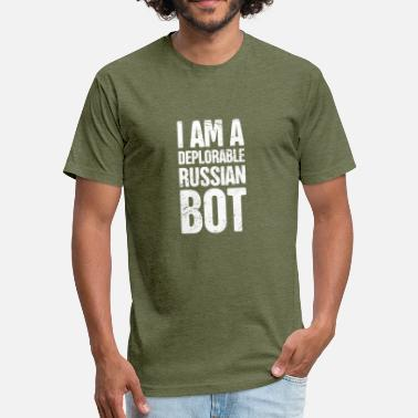 Internet Troll Funny Russian Bot / Internet Troll - Fitted Cotton/Poly T-Shirt by Next Level