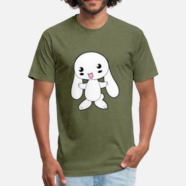 Cute Bunny Cartoon Cute Cartoon Bunny - Fitted Cotton/Poly T-Shirt by Next Level