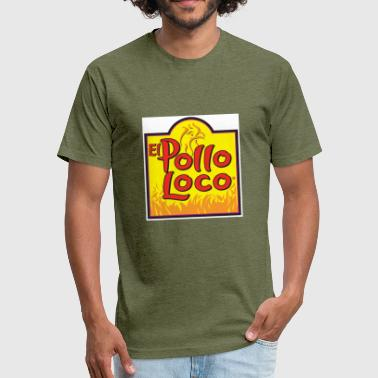 Loco el pollo loco - Fitted Cotton/Poly T-Shirt by Next Level