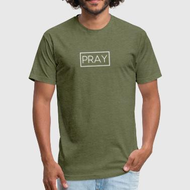 Pray For Usa Pray - Fitted Cotton/Poly T-Shirt by Next Level