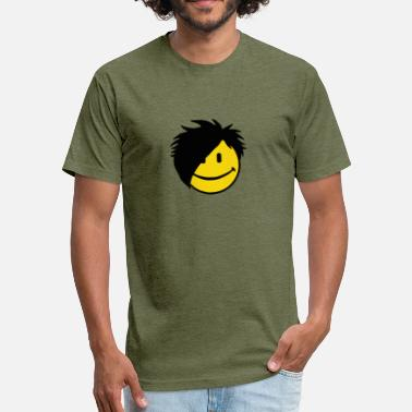 Funny Emo Emo Emoticon funny tshirt - Fitted Cotton/Poly T-Shirt by Next Level