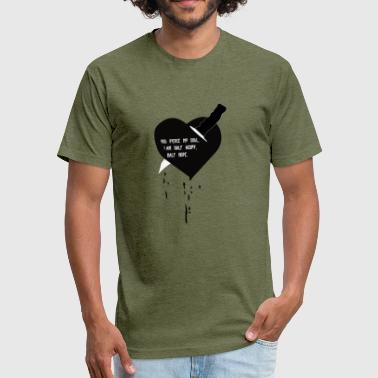 Heart Knife Design - Fitted Cotton/Poly T-Shirt by Next Level