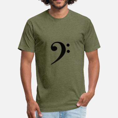 Bass Clef Bass clef design - Fitted Cotton/Poly T-Shirt by Next Level