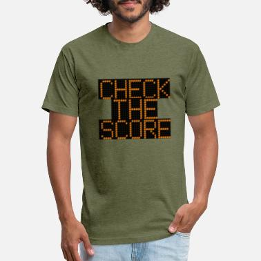 CHECK THE SCORE - Unisex Poly Cotton T-Shirt