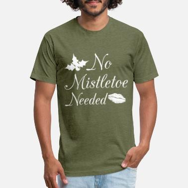 Mistletoe No Mistletoe Needed Xmas Christmas - Unisex Poly Cotton T-Shirt