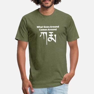 Around Karma Tibetan What Goes Around Comes Around - Unisex Poly Cotton T-Shirt