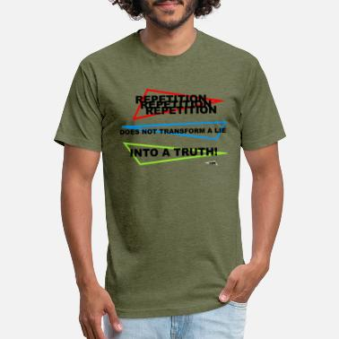 Lie Repetition does not transform a lie into a truth. - Unisex Poly Cotton T-Shirt