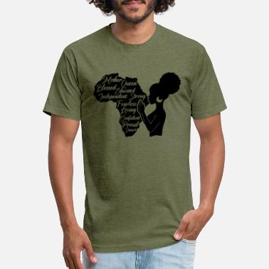 Puff Afro Puff in Mother Africa - Unisex Poly Cotton T-Shirt
