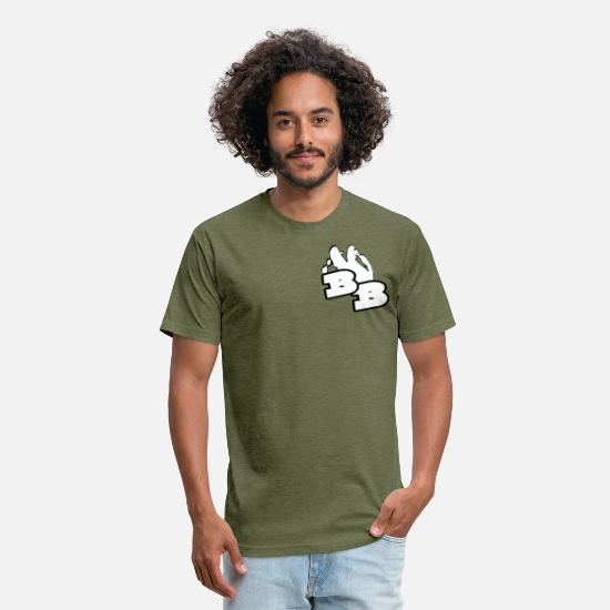 Comedy T-Shirts - Brown Brothers logo gear - Unisex Poly Cotton T-Shirt heather military green