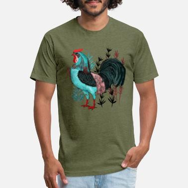 Flower Bed Cock in the Flower Bed - Unisex Poly Cotton T-Shirt