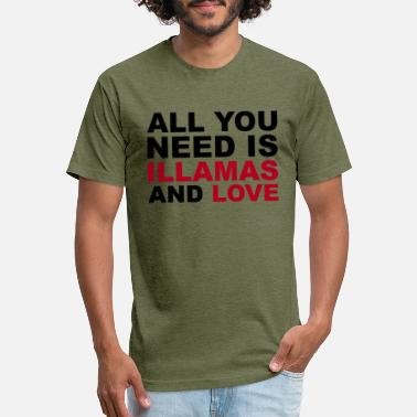 illamas and love - Unisex Poly Cotton T-Shirt