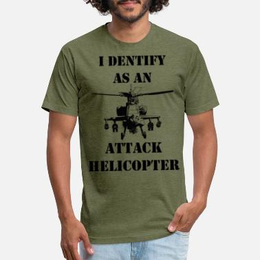 Attack Helicopter I identify as an attack helicopter - Unisex Poly Cotton T-Shirt
