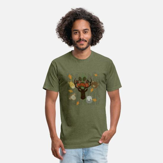 Junglecontest T-Shirts - junglecontest - Unisex Poly Cotton T-Shirt heather military green