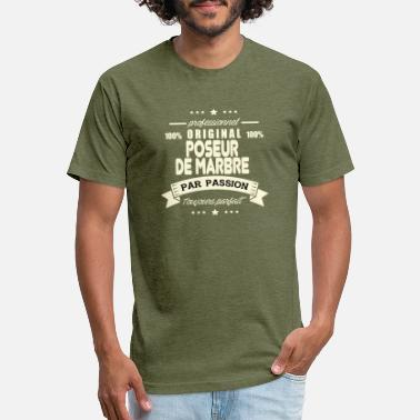 Posers Original Marble Poser - Unisex Poly Cotton T-Shirt