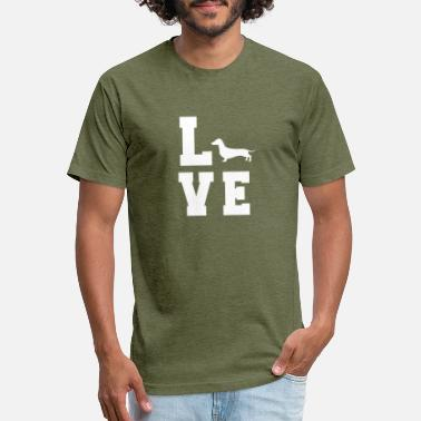Dachshundlove great dog owner shirts - Unisex Poly Cotton T-Shirt