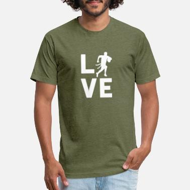 Graphic Flag FLAG FOOTBALL LOVE - Graphic Shirt - Unisex Poly Cotton T-Shirt