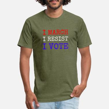 Viva La Resistance I March, I Resist, I Vote - Unisex Poly Cotton T-Shirt
