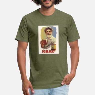 Advert Soviet Advert Fruit Kvass - Unisex Poly Cotton T-Shirt