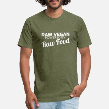 Raw Food Diet Raw Vegan Powered By Raw Food T-Shirt Funny Vegans - Unisex Poly Cotton T-Shirt