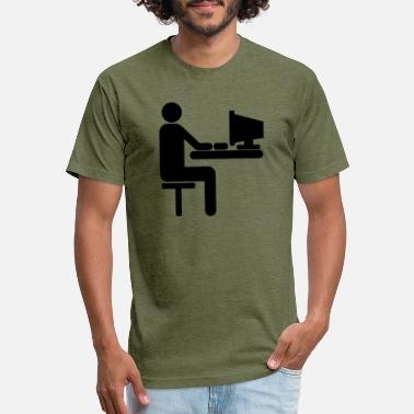 Personal Computer Computer programmer at a personal computer - Unisex Poly Cotton T-Shirt